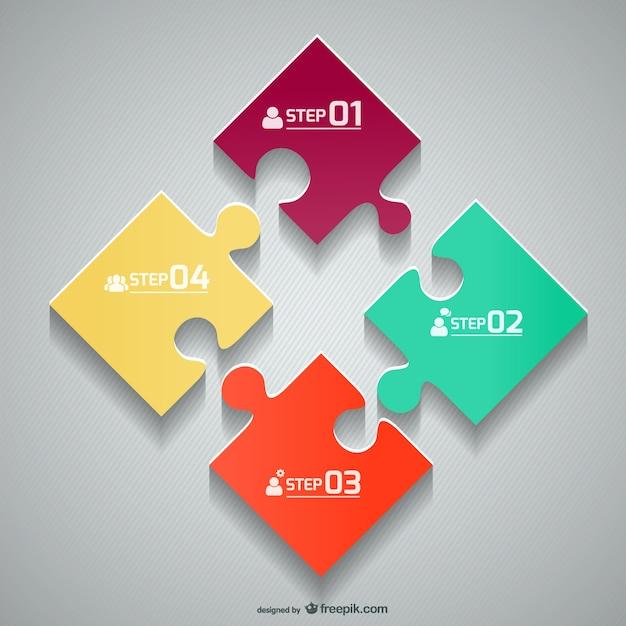 Vektor-puzzle-vorlage Kostenlosen Vektoren
