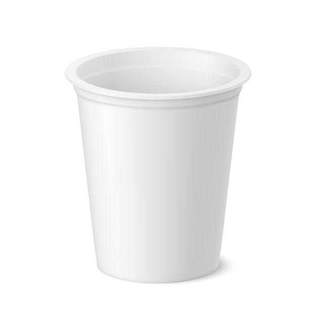 Vektor realistisches joghurt-, eiscreme- oder sauercremepaket Premium Vektoren