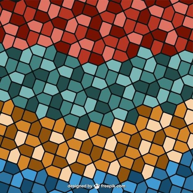 Vektor retro-mosaik-hintergrund Kostenlosen Vektoren
