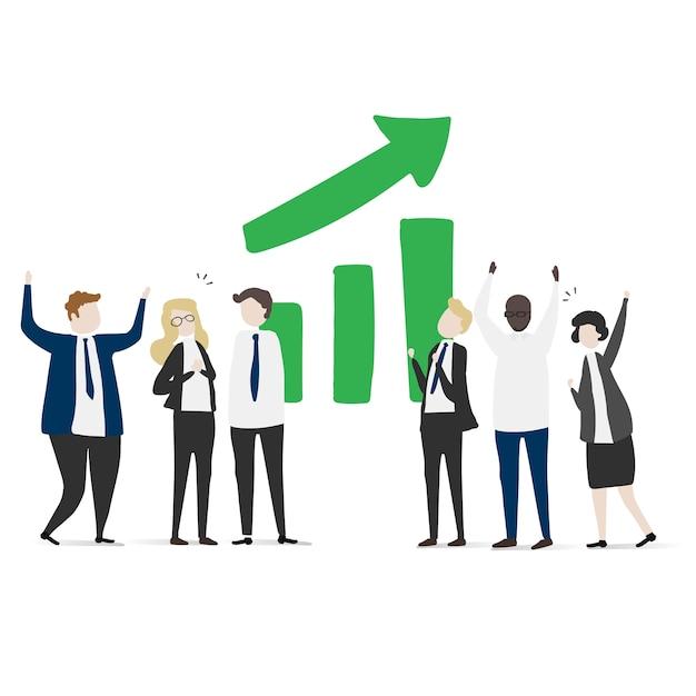 Vektor-sammlung von geschäftsleuten Kostenlosen Vektoren