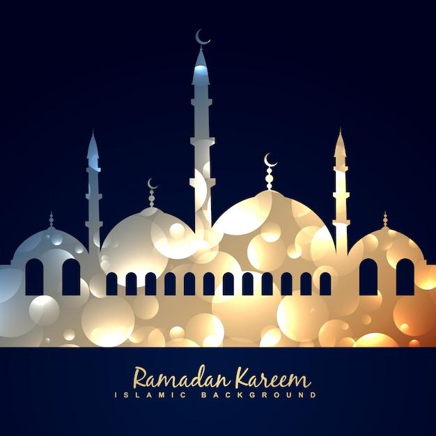 Vektor schöne glänzende moschee illustration Kostenlosen Vektoren