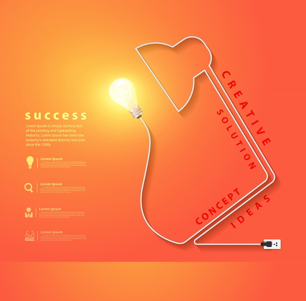 Vektor-schreibtischlampe geformte energie der elektrischen schnur Premium Vektoren
