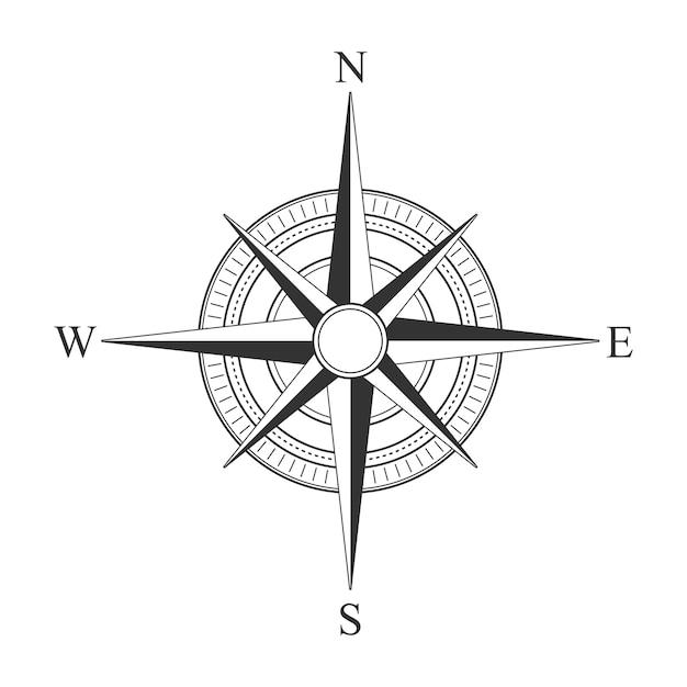 Vektor schwarze kompass symbole. Premium Vektoren