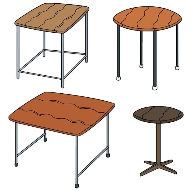 Vektor-set der tabelle Premium Vektoren