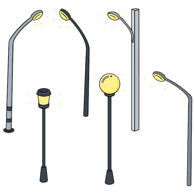 Vektor-set von außenlampe Premium Vektoren