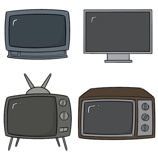 Vektor-set von fernsehen Premium Vektoren