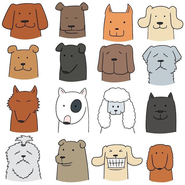 Vektor-set von hund Premium Vektoren