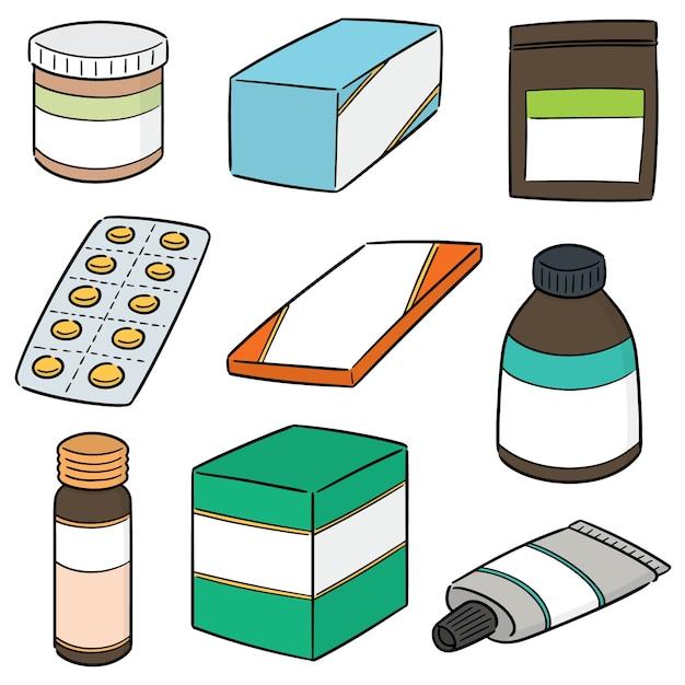 Vektor-set von medizin Premium Vektoren