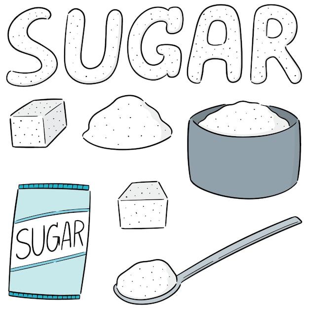 Vektor-set von zucker Premium Vektoren