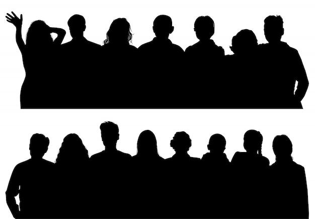 Vektor silhouetten mann und frau Premium Vektoren