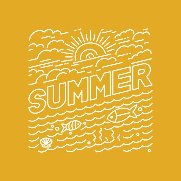 Vektor sommer schriftzug Premium Vektoren