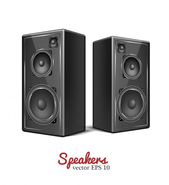 Vektor-sound-lautsprecher, lautsprechersymbol Premium Vektoren