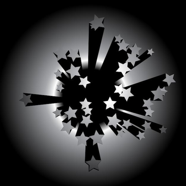 Vektor sterne hintergrund design illustration Kostenlosen Vektoren