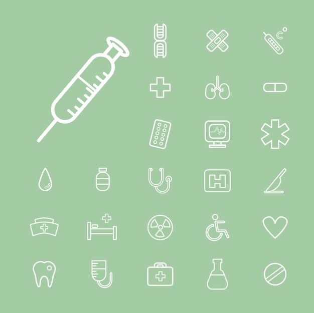 Vektor-ui-illustrations-gesundheits-gesundheitswesen-krankenhaus-konzept Kostenlosen Vektoren