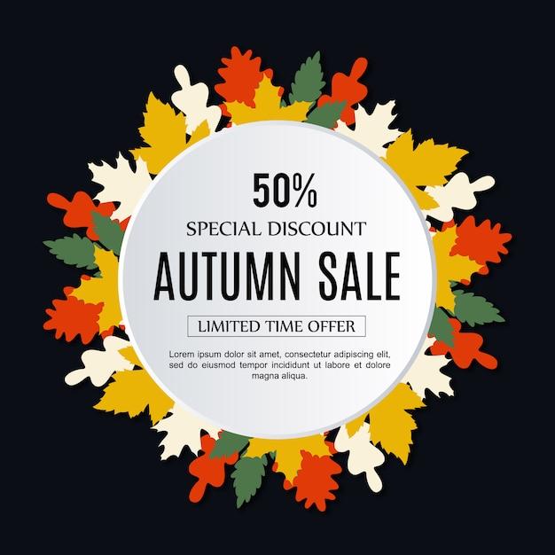 Vektor Verkauf Herbst Hintergrund Kostenlose Vektoren