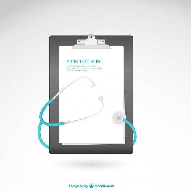 Vektor-vorlage mit stethoskop Kostenlosen Vektoren