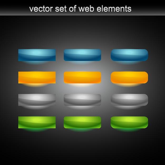 Vektor web-schaltfläche von tweleve Premium Vektoren