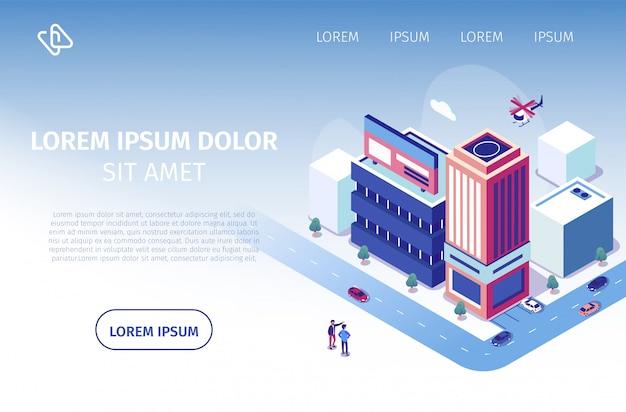 Vektor-website für immobilieninvestitionen Premium Vektoren