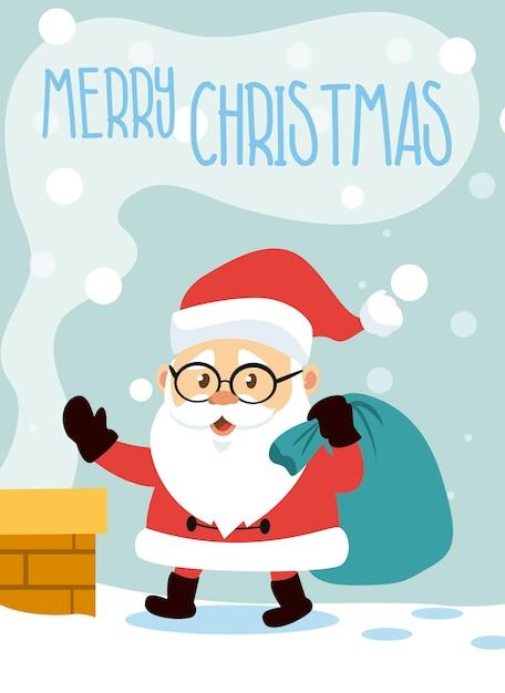 Vektor Weihnachten Weihnachtsmann | Download der Premium Vektor