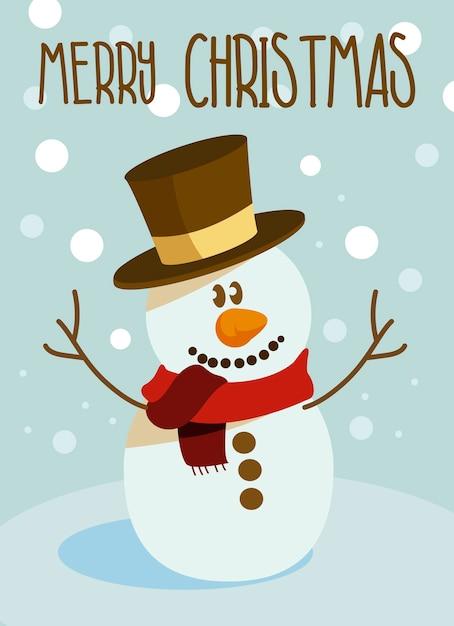 Vektor Weihnachtsschneemann | Download der Premium Vektor