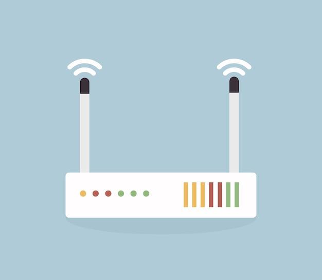 Vektor-WLAN-Router-Symbol. | Download der Premium Vektor