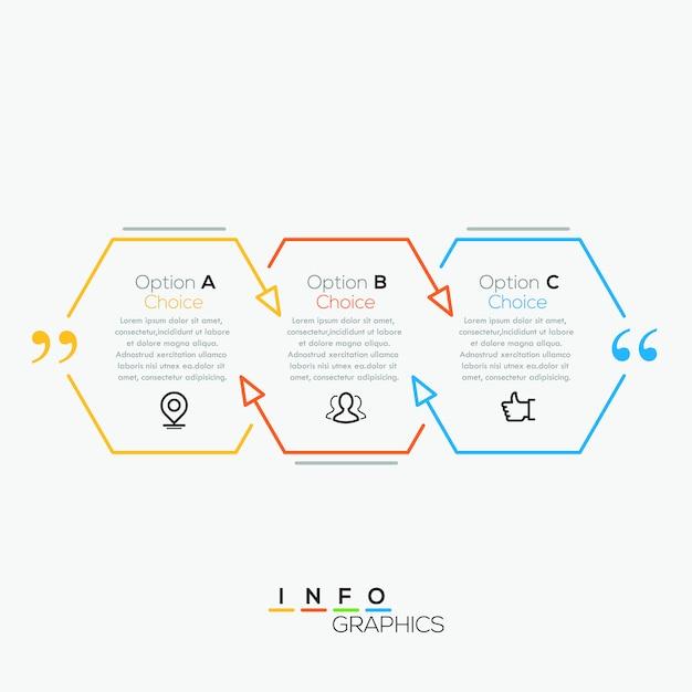 Vektor zitat infographik Premium Vektoren