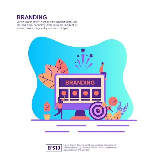 Vektorabbildungkonzept des brandings Premium Vektoren