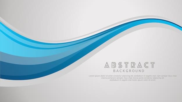 Vektorblauer gewellter wellenzusammenfassungs-swooshhintergrund. Premium Vektoren