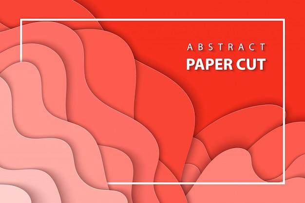 Vektorhintergrund mit pastellkorallenpapierschnitt Premium Vektoren