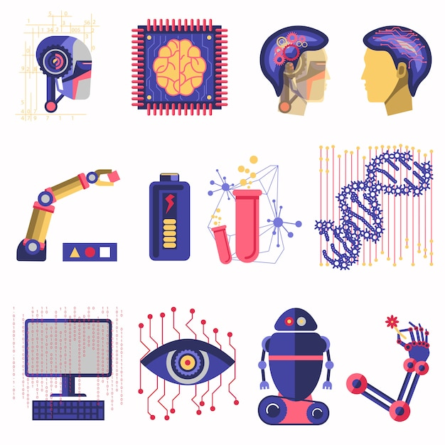 Vektorillustration der künstlichen intelligenz Premium Vektoren