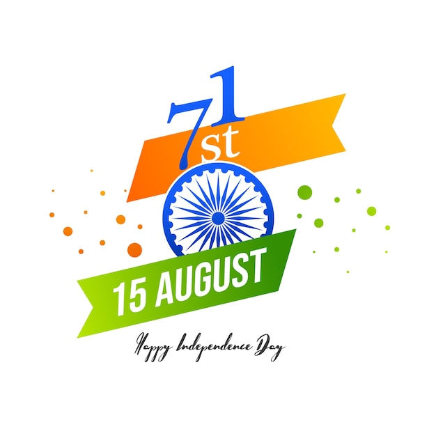 Vektorillustration des 15. august indien glücklichen unabhängigkeitstags. Premium Vektoren