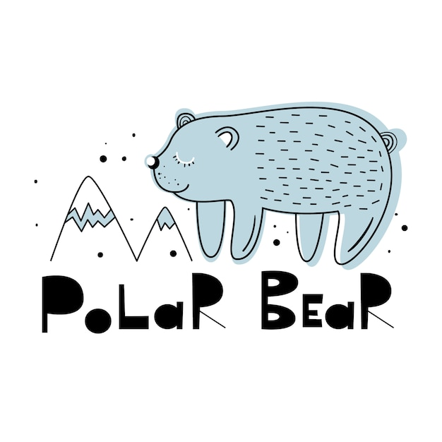 Vektorillustration eines netten bären. Premium Vektoren