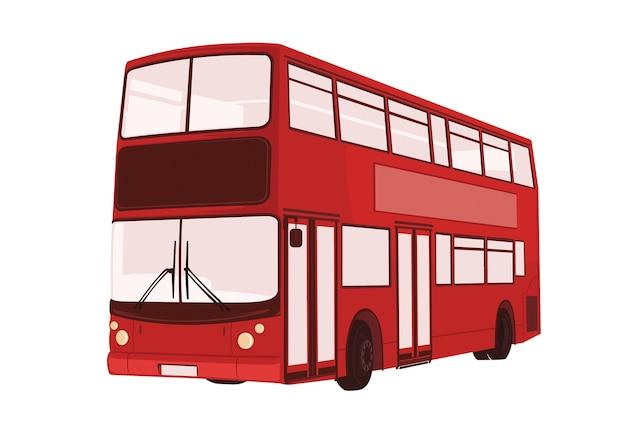 Vektorillustration von london-bus Premium Vektoren