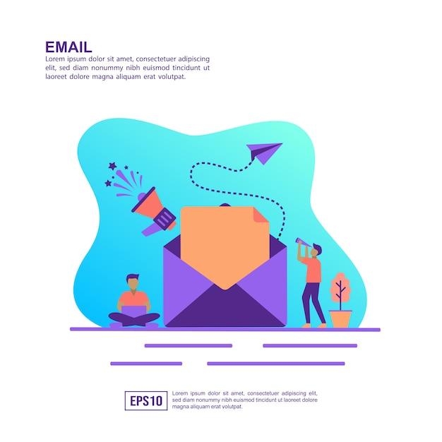 Vektorillustrationskonzept der e-mail Premium Vektoren