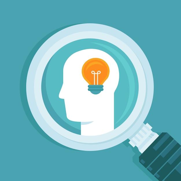 Vektorkreatives ideenkonzept Premium Vektoren