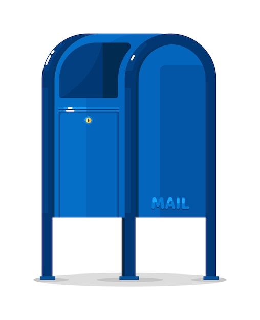 Vektorpostpostfachbehälter isoliert Premium Vektoren