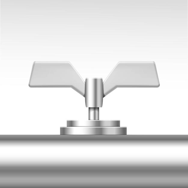 Vektorrohrventil isoliert auf weiß Premium Vektoren