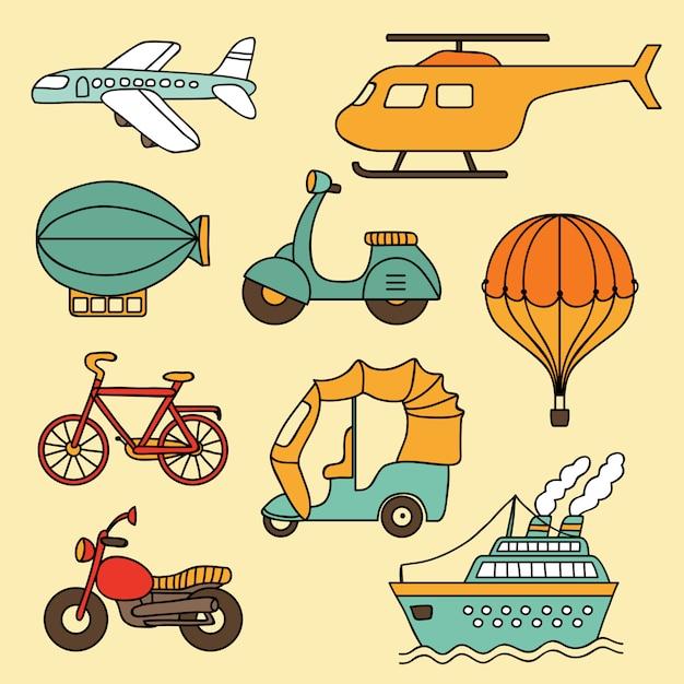 Vektorsammlung transport Premium Vektoren