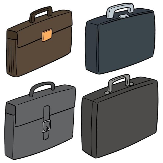Vektorsatz aktenkoffer Premium Vektoren