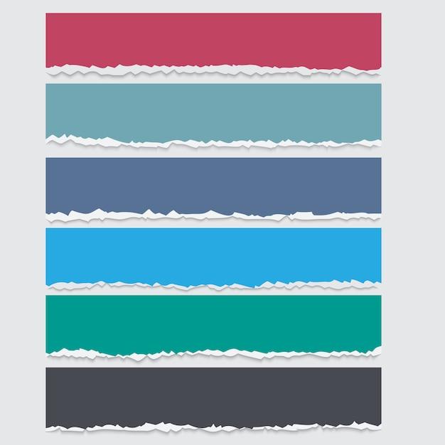 Vektorsatz farbige heftige papierfahnen mit raum für text Premium Vektoren