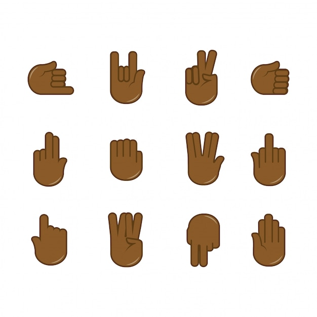 Vektorsatz handzeichenikonen Premium Vektoren