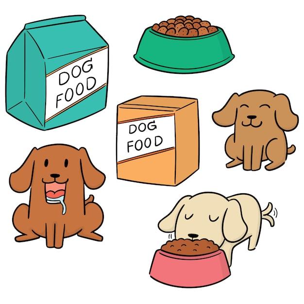 Vektorsatz hundefutter Premium Vektoren