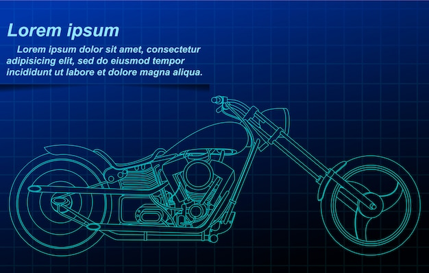 Vektorskizzenmotorradplan. Premium Vektoren