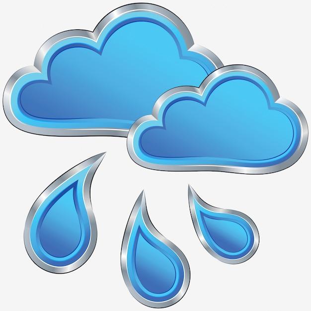 Vektorsymbol des regnerischen wetters Premium Vektoren