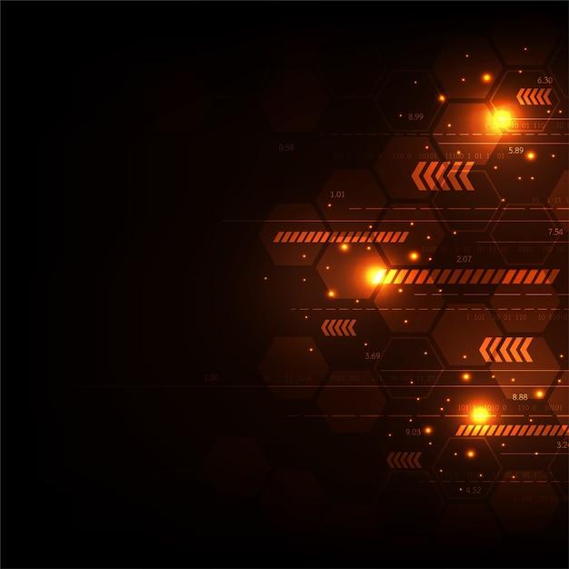 Vektortechnologie im konzept von digitalem. Premium Vektoren