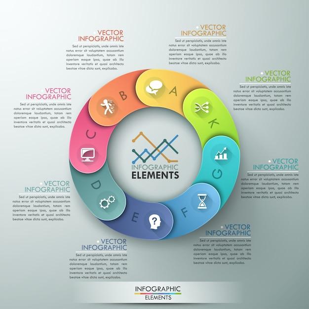Vektorzyklusvorlage für infografik Premium Vektoren