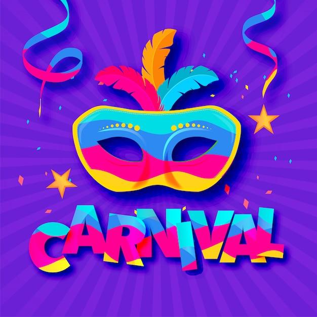 Venedig-karnevalsfahne für karneval Premium Vektoren