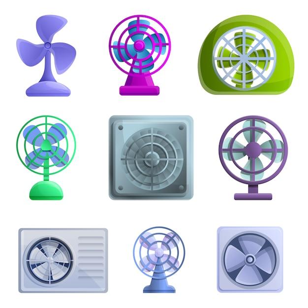 Ventilatorikonen eingestellt Premium Vektoren