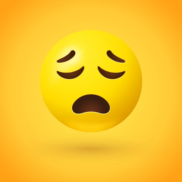 Verärgert gesicht emoji mit geschlossenen augen Premium Vektoren