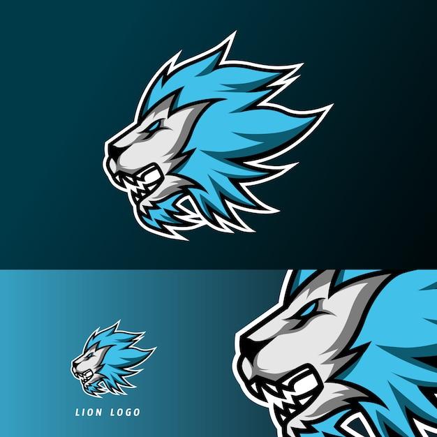 Verärgerte löwe jaguar maskottchen sport gaming esport logo vorlage für streamer squad team club Premium Vektoren